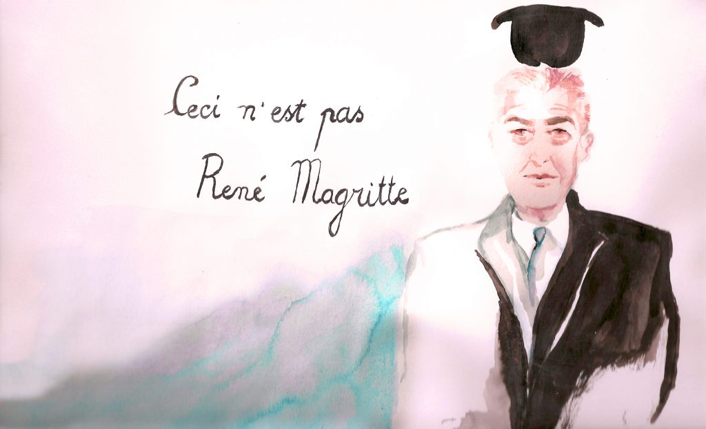 """This is not René Magritte"", by Araso in Paris Pompidou Museum"