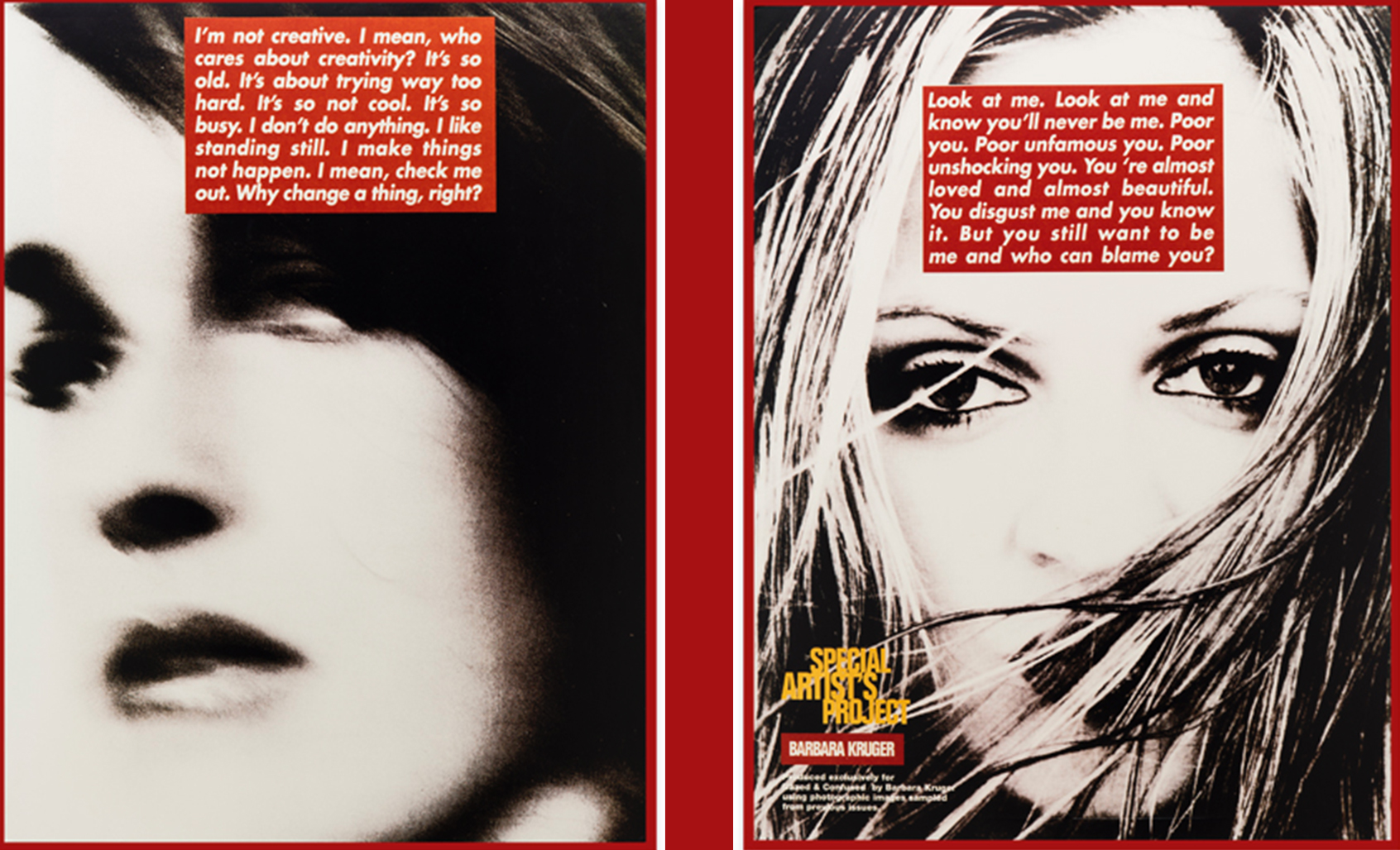 Barbara Kruger, Untitled (Project for Dazed and Confused) 1996, Courtesy of Gallery Sprüth Magers