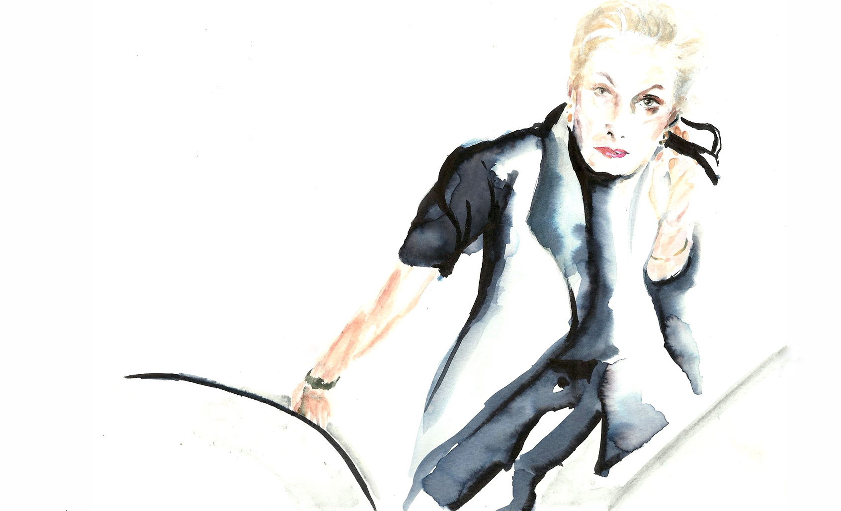 Lucinda Childs, illustration by Araso