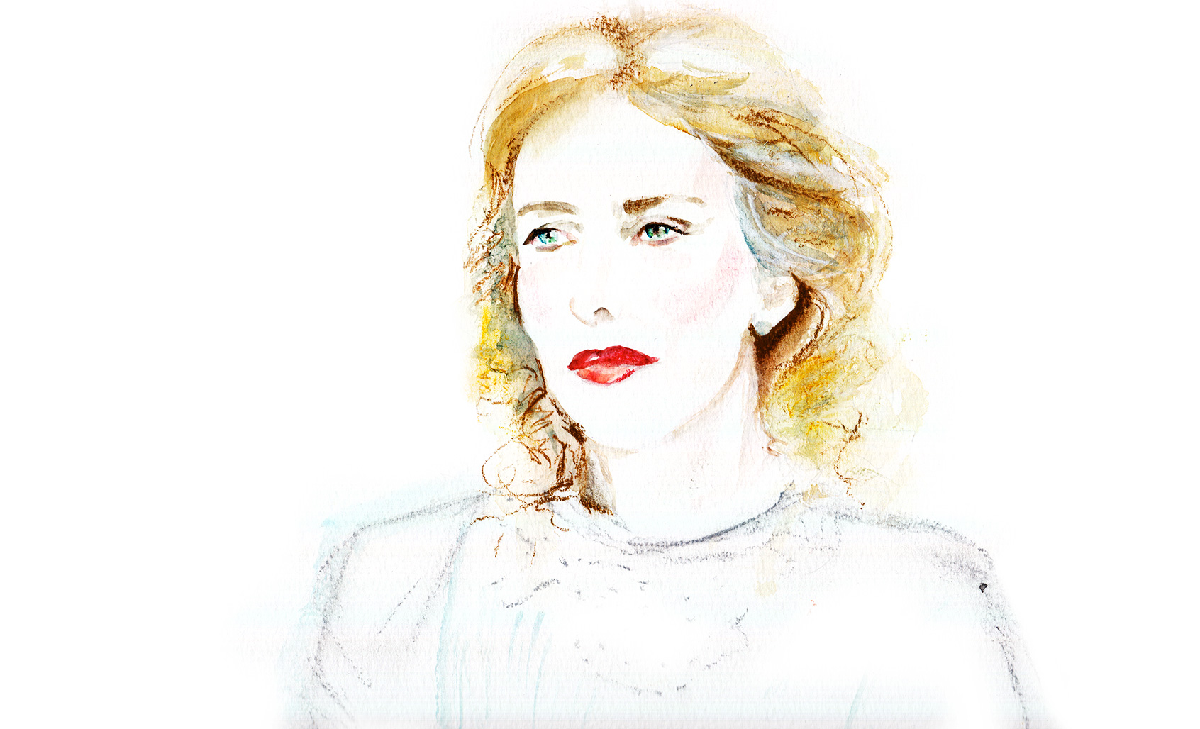Karin Viard in Vera. Illustration © Araso