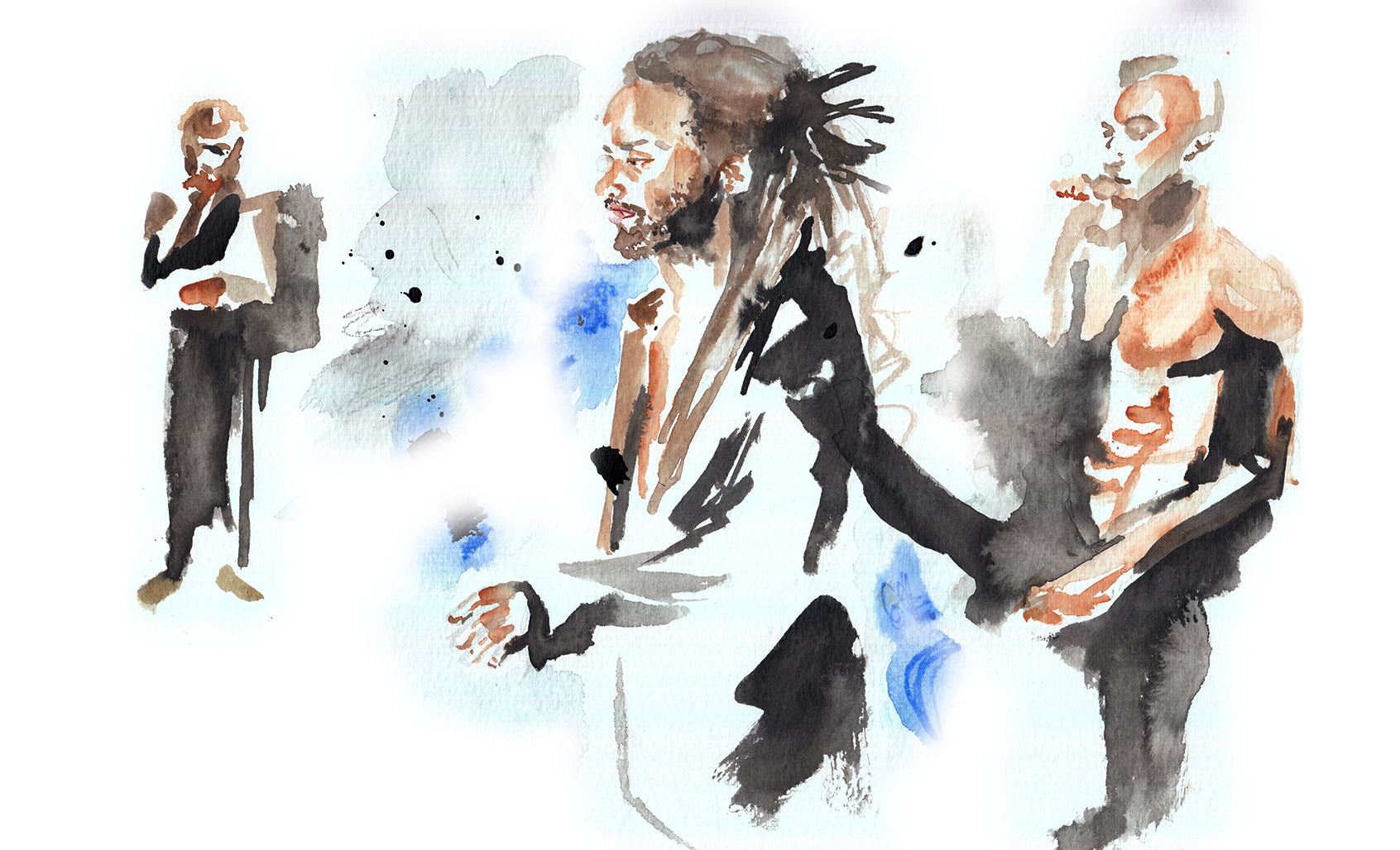 Samo, a tribute to Basquiat, illustration by Araso